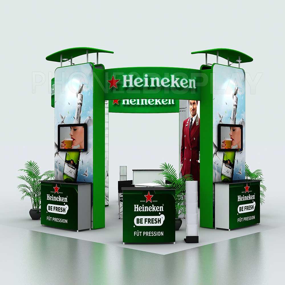 6x6m modular portable booth/Tower design